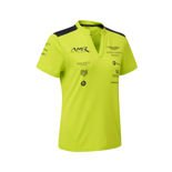 Polo femme Team couleur de citron vert Aston Martin Racing