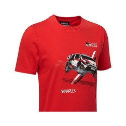 T-shirt enfant Car rouge Toyota Gazoo Racing WRT